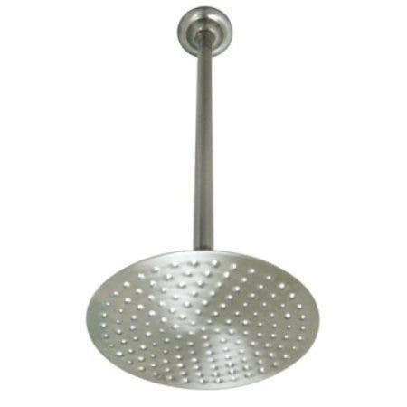 Kingston Brass K236K28 Victorian 7-3/4 Inch Showerhead with 17 in. Ceiling Mount Shower Arm, Brushed Nickel