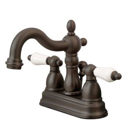 Kingston Brass KB1605PL Heritage 4 in. Centerset Bathroom Faucet, Oil Rubbed Bronze