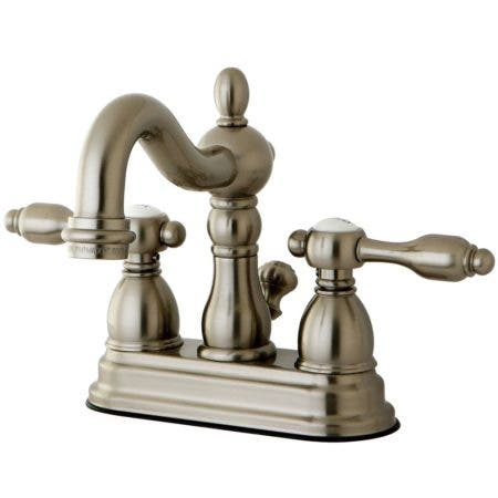 Kingston Brass KB1608TAL 4 in. Centerset Bathroom Faucet, Brushed Nickel