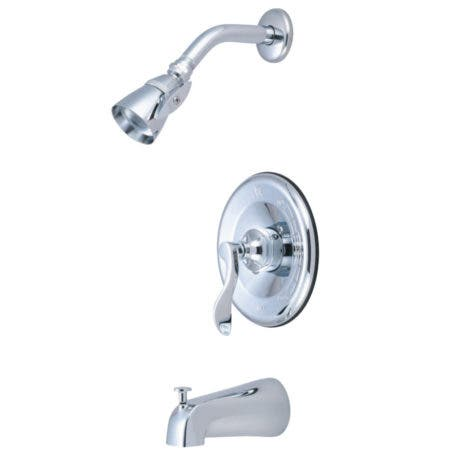 Kingston Brass KB1631DFL NuFrench Tub & Shower Faucet, Polished Chrome