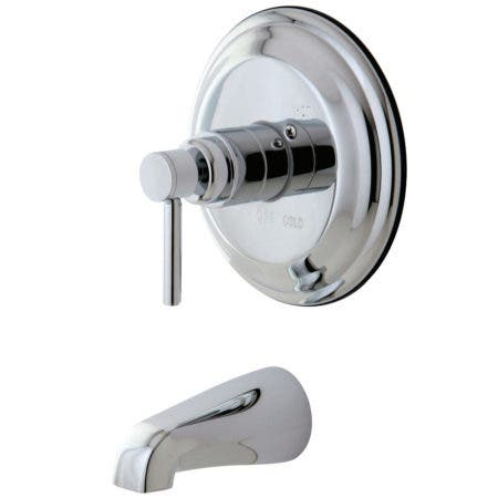 Kingston Brass KB2631DLTO Concord Tub & Shower Faucet (Shower Head Not Included), Polished Chrome