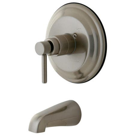Kingston Brass KB2638DLTO Concord Tub & Shower Faucet (Shower Not Included), Brushed Nickel