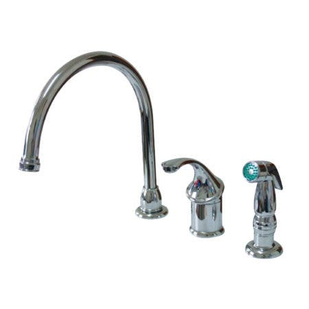 Kingston Brass KB3811GLSP Widespread Kitchen Faucet, Polished Chrome