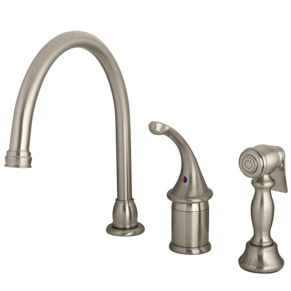 Kingston Brass KB3818GLBS Widespread Kitchen Faucet, Brushed Nickel