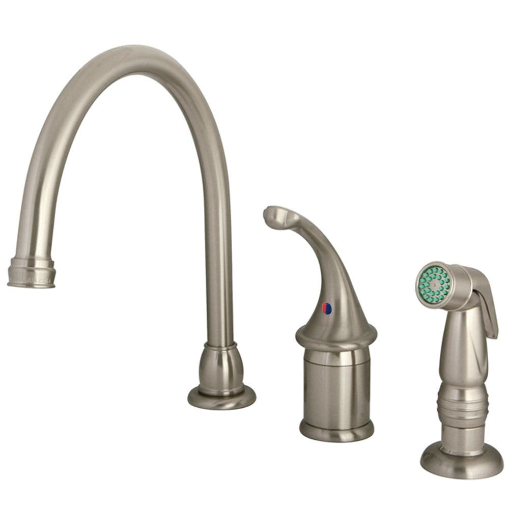Kingston Brass KB3818GLSP Widespread Kitchen Faucet, Brushed Nickel
