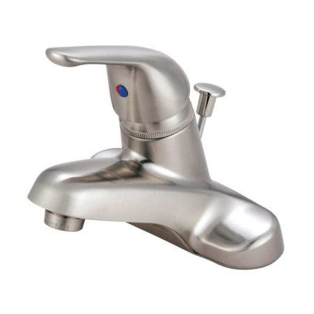 Kingston Brass KB548 Single-Handle 4 in. Centerset Bathroom Faucet, Brushed Nickel