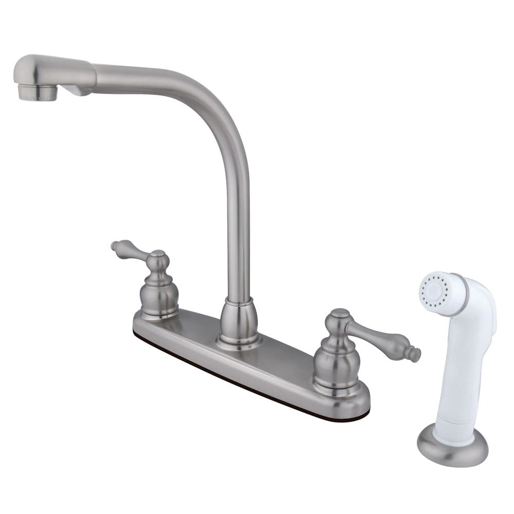 Kingston Brass GKB7648AL English Country 4-inch Centerset Lavatory Faucet with Retail Pop-up Brushed Nickel