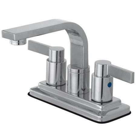 Kingston Brass KB8461NDL NuvoFusion 4-Inch Centerset Bathroom Faucet, Polished Chrome