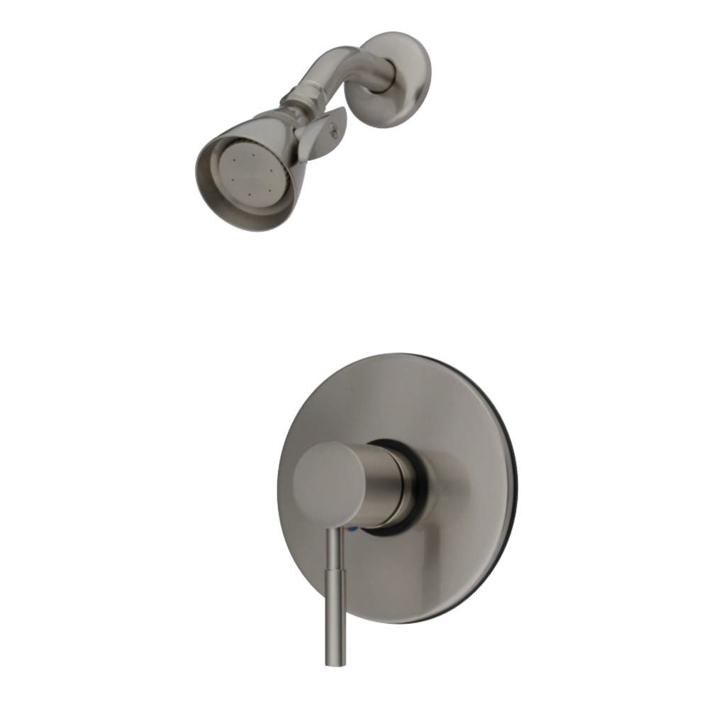Kingston Brass KB8698DLSO Concord Tub & Shower Faucet (Tub Spout Not Included), Brushed Nickel