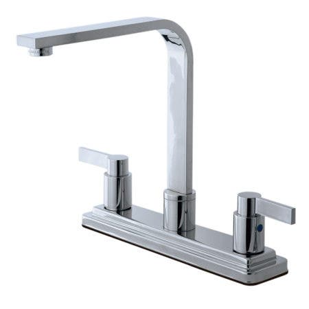 Kingston Brass KB8791NDLLS NuvoFusion Centerset Kitchen Faucet, Polished Chrome