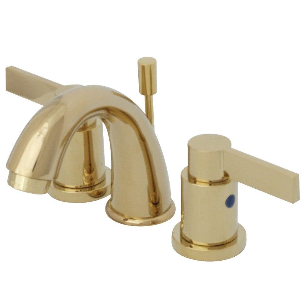 Kingston Brass KB8912NDL NuvoFusion Widespread Bathroom Faucet, Polished Brass