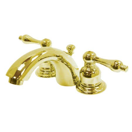 Kingston Brass KB942AL Victorian Mini-Widespread Bathroom Faucet, Polished Brass
