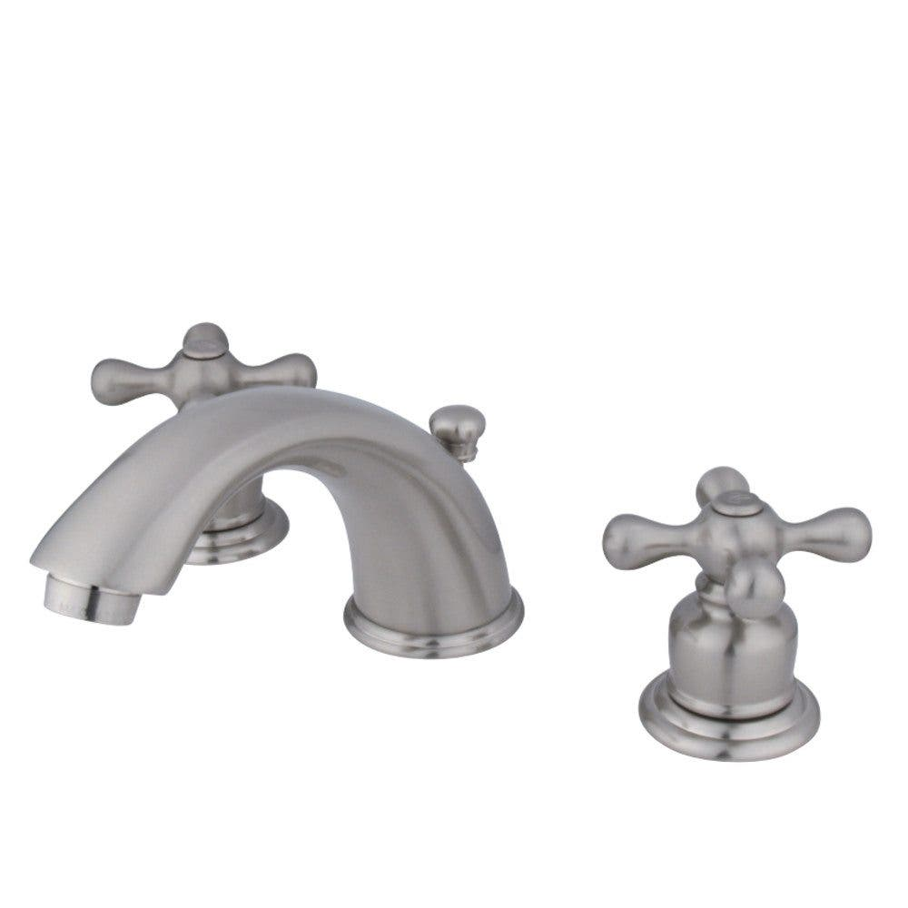 Shop Victorian Satin Nickel Widespread Bathroom Faucet: Kingston Brass KB978X Victorian Widespread Lavatory Faucet With Retail Pop-Up, Brushed Nickel
