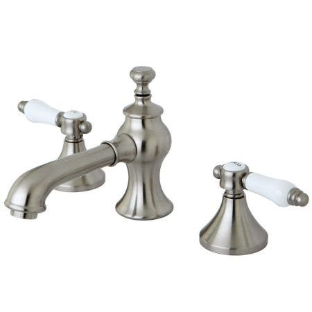 Kingston Brass KC7068BPL 8 in. Widespread Bathroom Faucet, Brushed Nickel