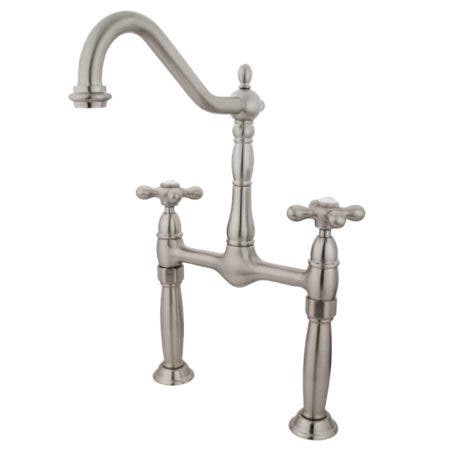 Kingston Brass KS1078AX Vessel Sink Faucet, Brushed Nickel