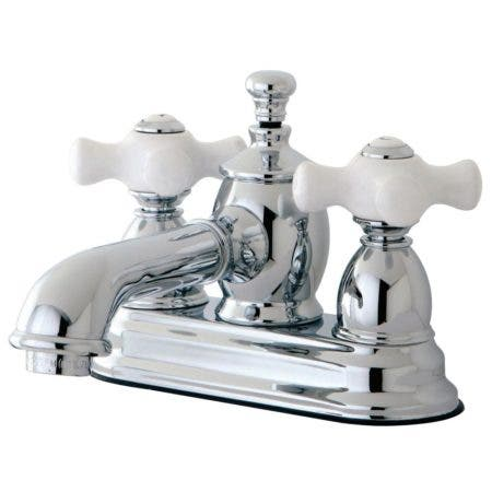 Kingston Brass KS7001PX 4 in. Centerset Bathroom Faucet, Polished Chrome