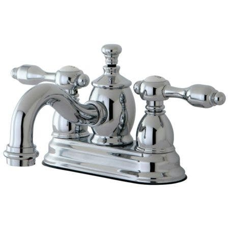 Kingston Brass KS7101TAL 4 in. Centerset Bathroom Faucet, Polished Chrome