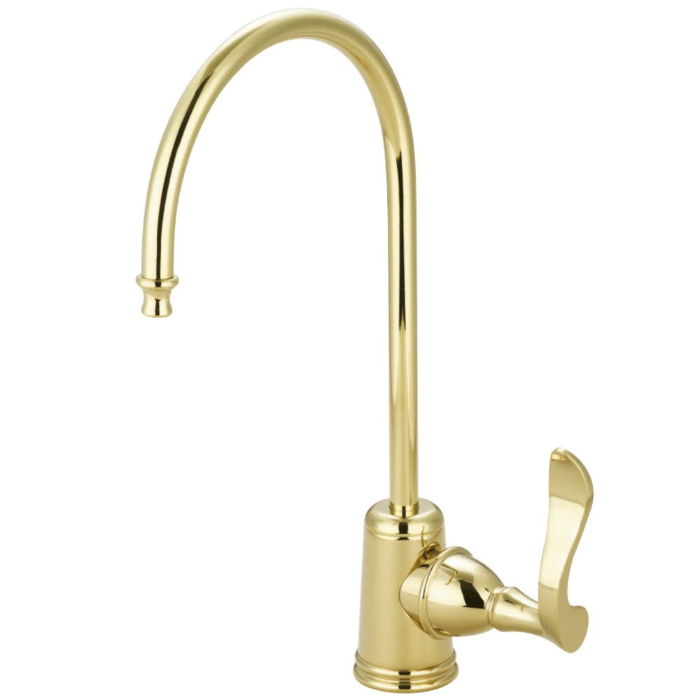 Kingston Brass KS7192CFL Century Single Handle Water Filtration Faucet, Polished Brass