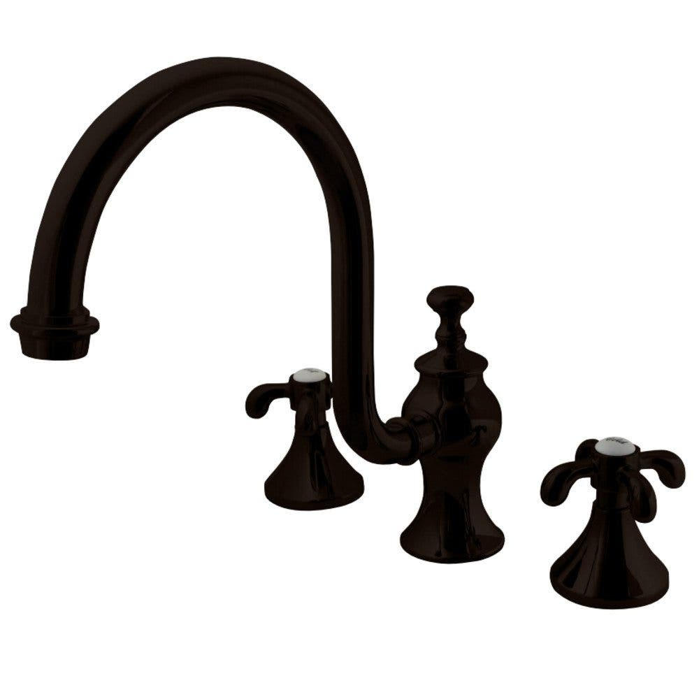 Kingston Brass KS7345TX French Country Roman Tub Filler with High ...
