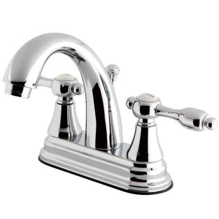 Kingston Brass KS7611TAL 4 in. Centerset Bathroom Faucet, Polished Chrome