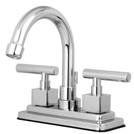 Kingston Brass KS8661CQL Claremont 4 in. Centerset Bathroom Faucet with Brass Pop-Up, Polished Chrome