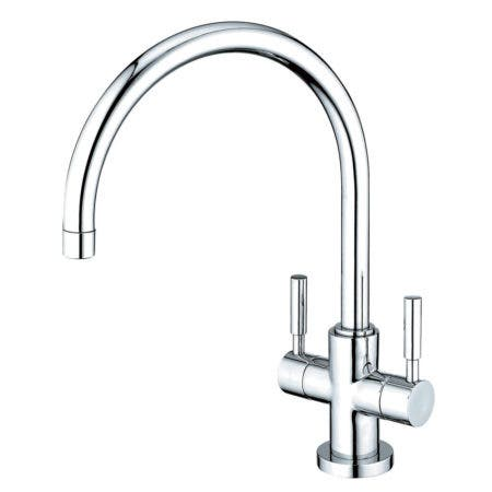 Kingston Brass KS8771DLLS Concord 2-Handle Kitchen Faucet with 8-Inch Plate, Polished Chrome