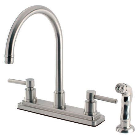 Kingston Brass KS8798DL Concord 8-Inch Centerset Kitchen Faucet, Brushed Nickel