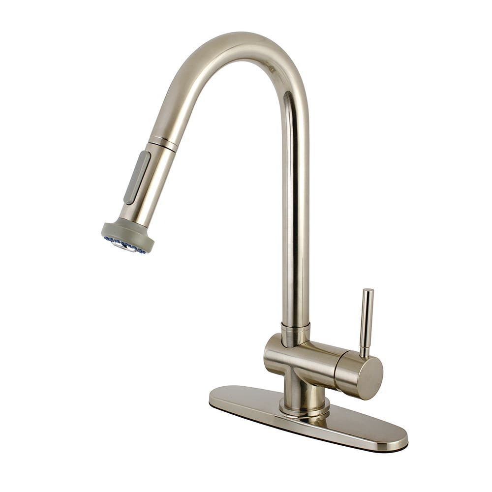 Kingston Brass KS8888DL Concord Pull-Down Kitchen Faucet, Brushed Nickel