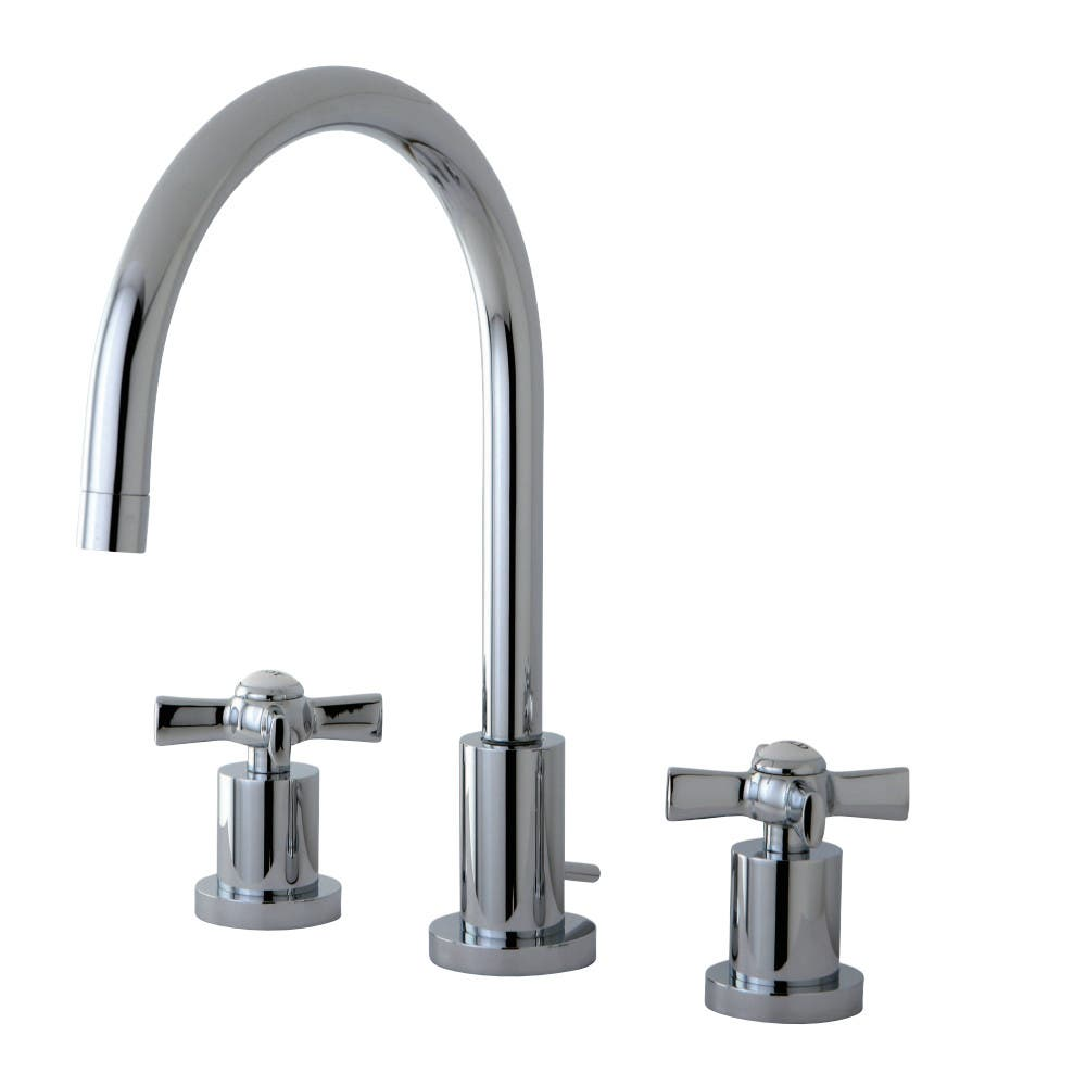 Kingston Brass KS8921ZX 8 in. Widespread Bathroom Faucet, Polished Chrome