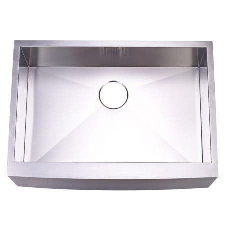 Gourmetier KUF302110BN Apron Front Farmhouse Single Bowl Kitchen Sink, Brushed
