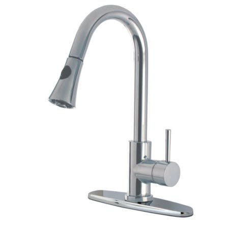 Gourmetier LS8721DL Concord Single-Handle Pull-Down Kitchen Faucet, Polished Chrome