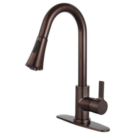 Gourmetier LS8725CTL Continental Single-Handle Pull-Down Kitchen Faucet, Oil Rubbed Bronze