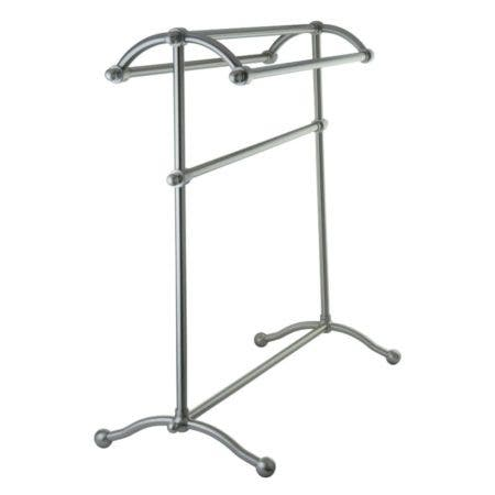 Kingston Brass SCC2298 Pedestal Towel Rack, Brushed Nickel