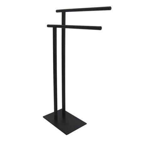 Kingston Brass SCC6030 Freestanding Double Towel Rack, Matte Black