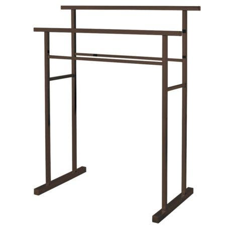 Kingston Brass SCC8245 Pedestal Steel Construction Towel Rack, Oil Rubbed Bronze