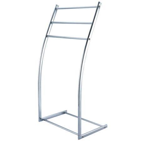 Kingston Brass SCC8251 Pedestal Steel Construction Towel Rack, Polished Chrome