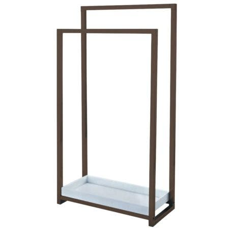 Kingston Brass SCC8265 Edenscape Pedestal 2-Tier Steel Construction Towel Rack with Wooden Case, Oil Rubbed Bronze