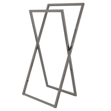 Kingston Brass SCC8298 Pedestal X Style Steel Construction Towel Rack, Brushed Nickel