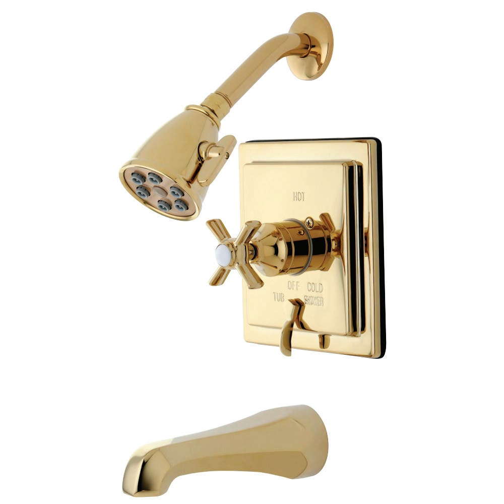 Kingston Brass VB86520ZX Tub/Shower Faucet, Polished Brass
