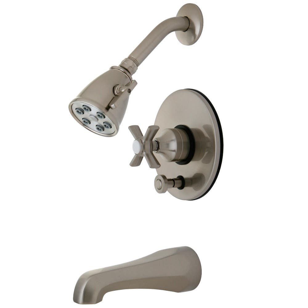 Kingston Brass VB86980ZX Millennium Tub and Shower Faucet, Brushed Nickel