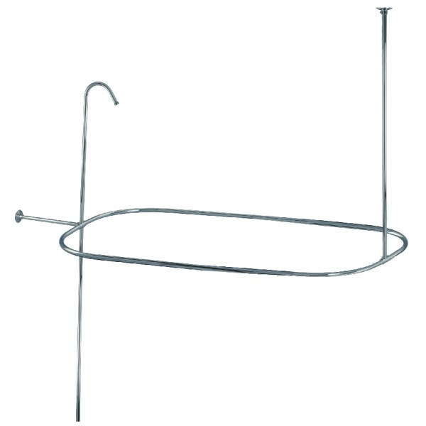 Kingston Brass ABT1040-1 Oval Shower Riser with Enclosure, Polished Chrome