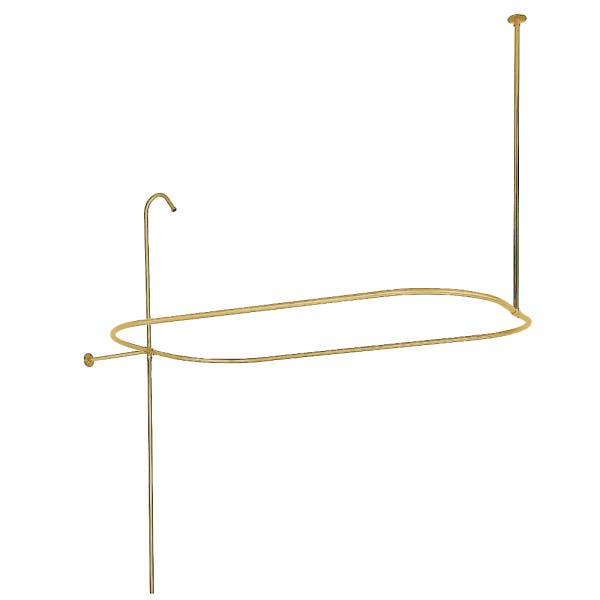 Kingston Brass ABT1040-2 Oval Shower Riser with Enclosure, Polished Brass