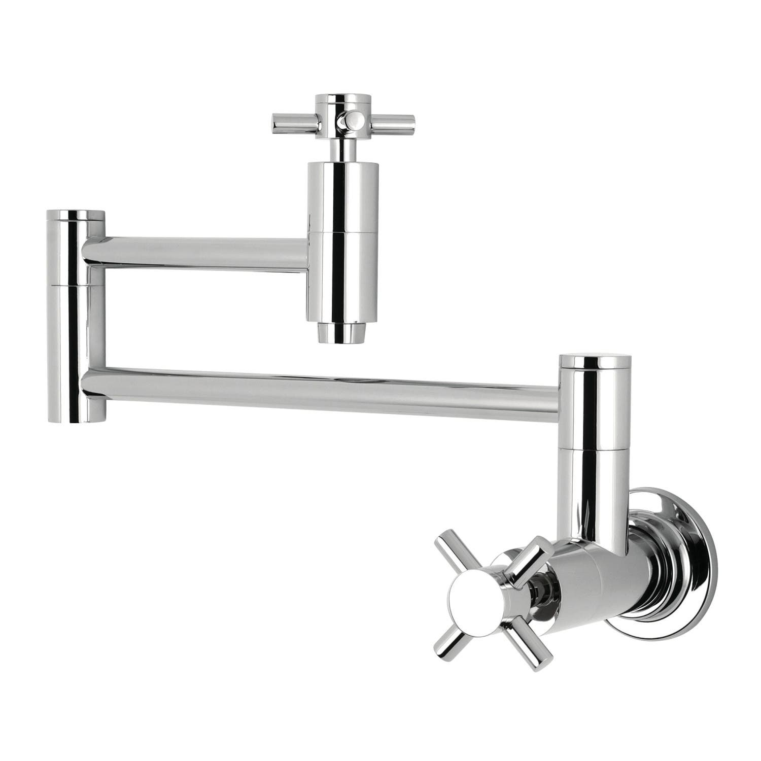 Kingston Brass KS8101DX Wall Mount Pot Filler Kitchen Faucet, Polished Chrome