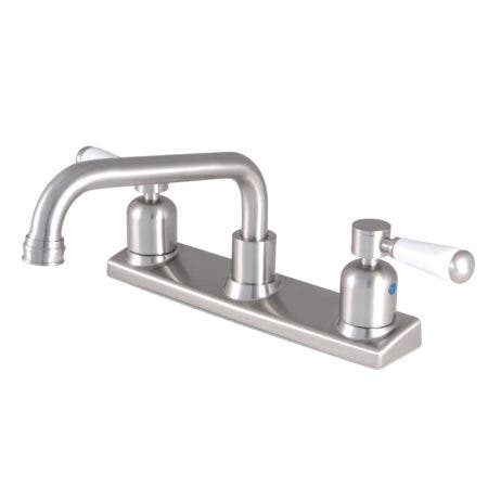 Kingston Brass FB2138DPL 8-Inch Centerset Kitchen Faucet, Brushed Nickel