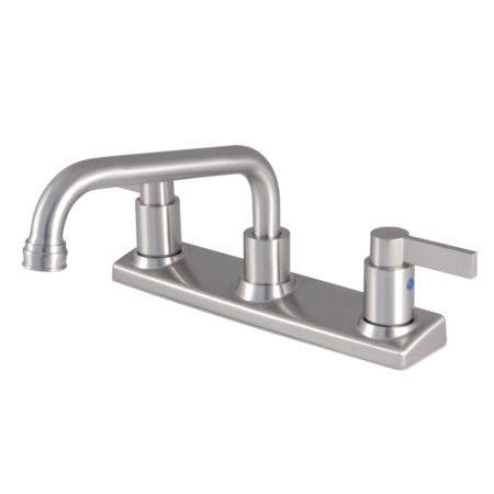 Kingston Brass FB2138NDL NuvoFusion 8-Inch Centerset Kitchen Faucet, Brushed Nickel
