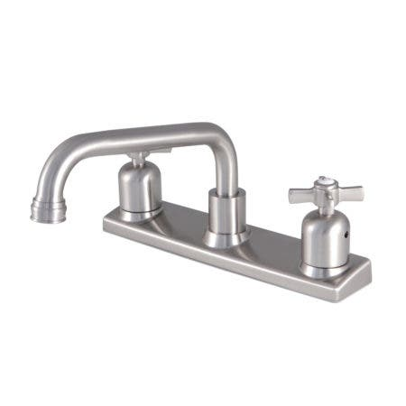 Kingston Brass FB2138ZX 8-Inch Centerset Kitchen Faucet, Brushed Nickel