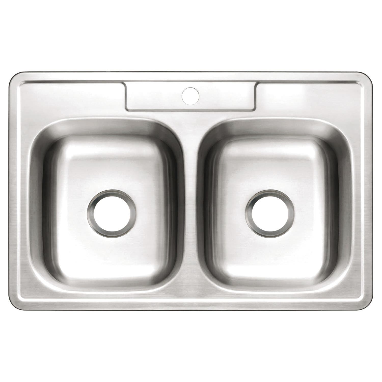 Gourmetier GKTD3322101 33x22x10 Inches Double Bowl Stainless Steel Kitchen Sink