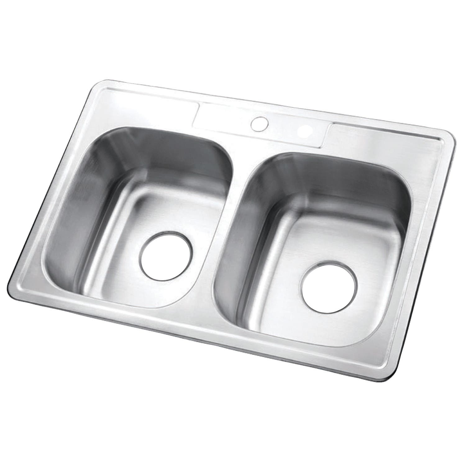 "Gourmetier GKTD332281 33""x22""x8"" Self-Rimming Stainless Steel Kitchen Sink"