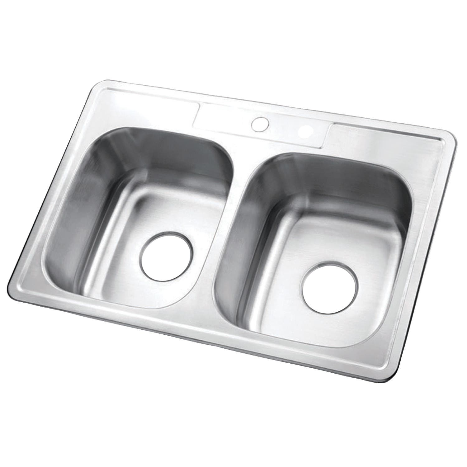 "Gourmetier GKTD332291 33""x22""x9"" Self-Rimming Stainless Steel Kitchen Sink"