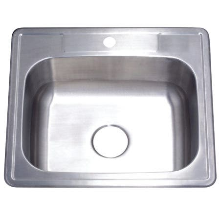 Gourmetier GKTS2522101 25x22 x10 Inches Drop-In Single Bowl 20-Gauge Kitchen Sink (1 Hole), Brushed Nickel